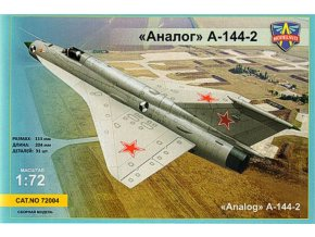 "Modelsvit - Mikojan-Gurevič MiG-21 ""Fishbed"" I-2 Second Prototype (""Analog"" A-144-2), Model Kit 72004, 1/72"