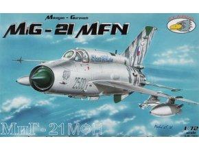 """RV Aircraft - Mikojan-Gurevič MiG-21MFN """"Fishbed"""", Vzdušné síly Armády České republiky, Model Kit C72031, 1/72"""