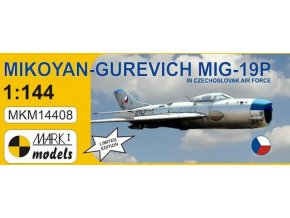 "Mark1 decals - Mikojan-Gurevič MiG-19 ""Farmer"" B, Model Kit MKM14408LE, 1/144"