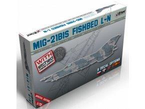 """Lift Here Decals -  Mikojan-Gurevič MiG-21Bis """"Fishbed L-N"""", Model Kit LHM009, 1/72"""