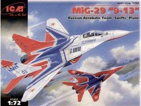 "ICM - Mikojan-Gurevič MiG-29, 9-13 ""Fulcrum"" (Swifts Acro team), Model Kit 72142, 1/72"