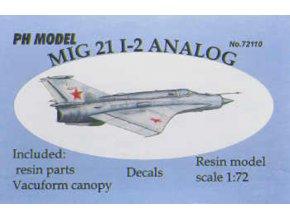 """PH Models - Mikojan-Gurevič MiG-21Bis """"Fishbed"""" I-2 Analog , Model Kit HR72110, 1/72"""