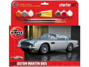 52703 airfix aston martin db5 silver model kit a50089b 1 32