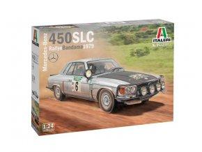 Italery - Mercedes-Benz 450SLC Rallye Bandama 1979, Model Kit auto 3632, 1/24