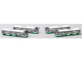 JC Wings - Set 4 ks letištních autobusů EVA Air, 1/400