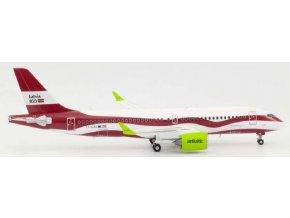 "Herpa - Airbus A220-300, společnost Air Baltic ""Latvia 100"" Colors, Lotyšsko,  1/200"