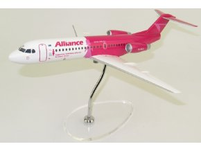 "Lupa - Fokker 70, společnost Alliance Airlines ""Breast Cancer Network Australia (BCNA)"" VH-NUU, Austrálie, 1/100"