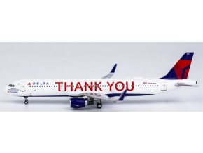 """NG Model - Airbus A321, dopravce Delta Air Lines """"THANK YOU"""" N391DN, USA, 1/400"""