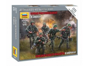 Zvezda - Set fugurek Panzergrenadiers Wehrmacht, Wargames (WWII), Model Kit 6270, 1:72