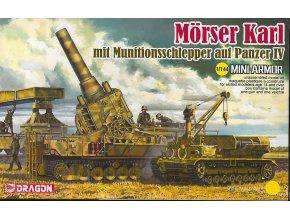 Dragon - Morser Karl mit Munitionsschlepper auf Panzer IV, Model Kit 14135, 1/144