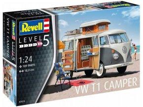53333 revell vw t1 camper model kit 07674 1 24
