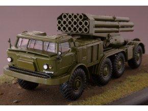 """Start Scale Models - BM-27 """"Uragan"""" na podvozku ZIL-135LM 8x8 (khaki),  1/43"""