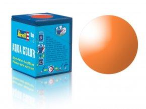 Revell - Barva akrylová 18 ml - transparentní oranžová (orange clear), 36730