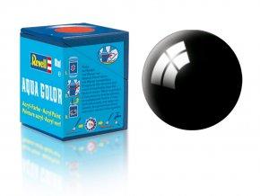 Revell - Barva akrylová 18 ml - č. 07 leská černá (black gloss), 36107