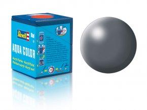 Revell - Barva akrylová 18 ml - hedvábná tmavě šedá (dark grey silk), 36378