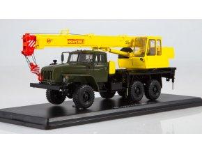 """Start Scale Models - Autojeřáb KS-3574, UrAL-4320-31, Ivanovets"""" (khaki- žlutá), 1/43"""