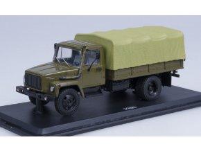 Start Scale Models - GAZ-3309, vojenský nákladní s plachtou, 1/43