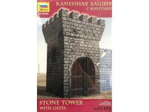 Zvezda -  STONE TOWER WITH GATE, Model Kit 8509