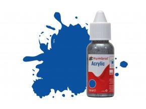 Humbrol barva akrylová 14ml - No 14 French Blue - Gloss - DB0014