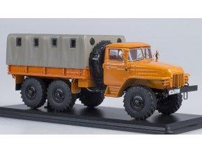 Start Scale Models - URAL-375D, valník s plachtou (oranžová), 1/43