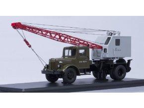 Start Scale Models - Multifunkční nákladní autojeřáb K-51, MAZ-200, (khaki-šedá), 1/43