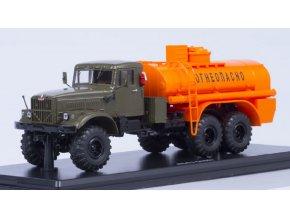 Start Scale Models - AC-8,5 KRAZ-255B, armádní cisterna (khaki-oranžová), 1/43