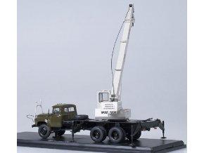 Start Scale Models - KS-3575A (ZIL-133GYA), autojeřáb (khaki-grey), 1/43