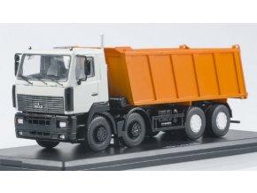 Start Scale Models - MAZ-6516, 8x4 sklápěčka (bílo-oranžová), 1/43