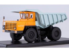 Start Scale Models - BELAZ-540A, sklápěčka (oranžová-šedá), 1/43