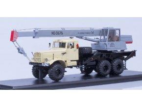 Start Scale Models - Autojeřáb KS-3575, KRAZ-255V1 (béžová-šedá), 1/43