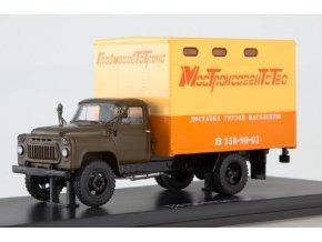 Start Scale Models - GZTM-893A (GAZ-52), skříňová nástavba (khaki-béžová), 1/43