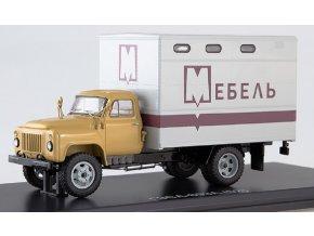 Start Scale Models - GZSA-893A (GAZ-52), skříňová nástavba (béžová-šedá), 1/43