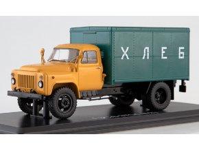 Start Scale Models - GZSA-3709 (GAZ-52), pekařský vůz (béžová-zelená), 1/43