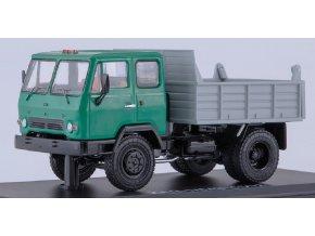 Start Scale Models - KAZ MMZ-4502, sklápěčka (zelená-šedá), 1/43