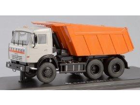 Start Scale Models - KAMAZ-65115, sklápěčka (šedá- oranžová), 1/43