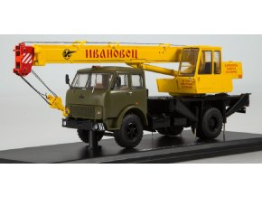 Start Scale Models - KS-3577 (MAZ-5334), autojeřáb (khaki-žlutá), 1/43