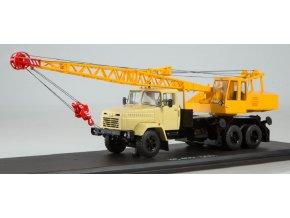 Start Scale Models - Autojeřáb KS-4561 (KRAZ-250), béžová- žlutá, 1/43
