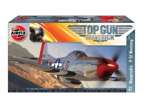 Airfix - Top Gun Maverick's P-51D Mustang, Classic Kit A00505, 1/72