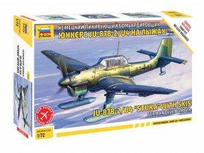 """Zvezda - JU-87B-2/U4 """"STUKA"""" with skis, Kit letadlo 7323, 1/72"""