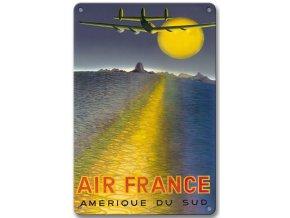 """Plechová cedule """"Air France - Amerique Du Sud"""", 30 x 20 cm"""