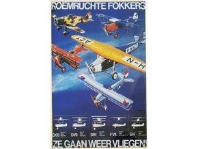 """Plechová cedule """"Roemruchte Fokkers"""", 30 x 20 cm"""