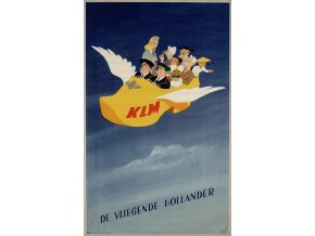 "Plechová cedule ""KLM, Vliegende klomp"", 30 x 20 cm"