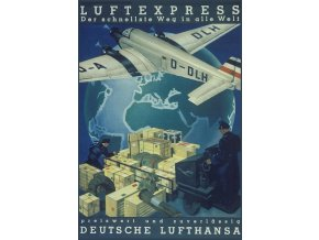 "Plechová cedule ""Luftexpress Deutsche Lufthansa"", 30 x 20 cm"