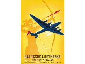 """Plechová cedule """"Deutsche Lufthansa"""", 30 x 20 cm"""