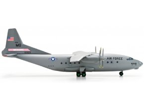 "Herpa - Antonov An-12 USAF, ""305th Airlift Wing, McQuire AB"" Meridian Aviation, USA, 1/200"