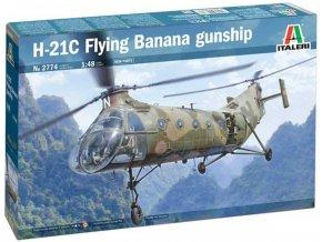 Italeri - H-21C Flying Banana GunShip, Model Kit 2774, 1/48