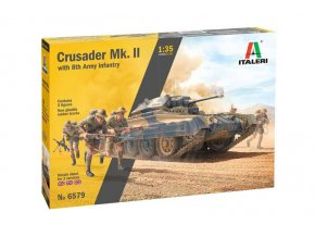 Italeri - Crusader Mk. II with 8th Army Infantry, Model Kit 6579, 1/35