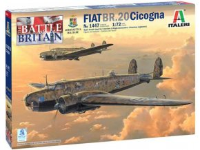 Italeri - Fiat BR.20 Cicogna, Model Kit 1447, 1/72