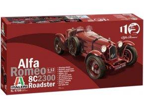 Italeri - Alfa Romeo 8C 2300 Roadster, Model Kit 4708, 1/12