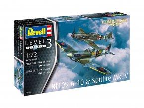 Revell - Bf109G-10 & Spitfire Mk.V, Modelkit letadla 03710, 1/72